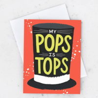Card | My Pops Is Tops