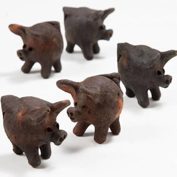 Ten Thousand Villages Terracotta Pig | Good Luck