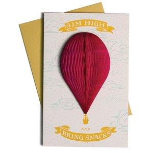 Ladyfingers Letterpress Card | Aim High & Bring Snacks