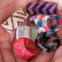 Lucia's Imports Beaded Rings