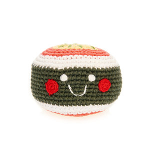 Pebble Crochet Rattle | Sushi Maki