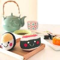 Pebble Crochet Rattle | Sushi Maki