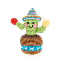 Pebble Crochet Rattle | Green Cactus