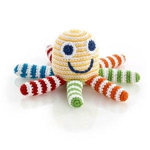 Pebble Crochet Rattle | Rainbow Octopus