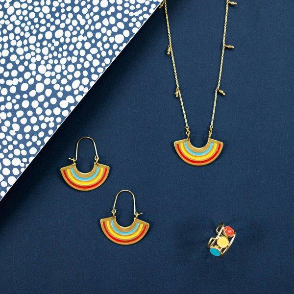 Necklace | Multi Color Petite Rainbow