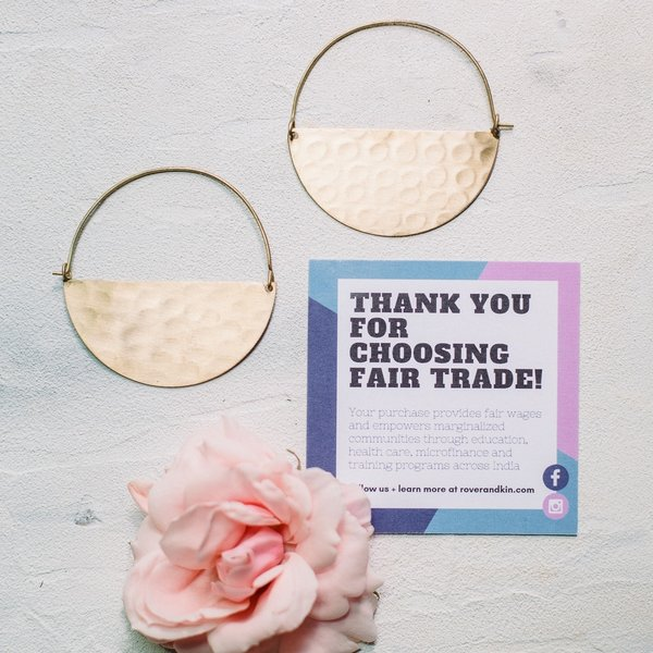 Earrings | Gold Half Moon | Large