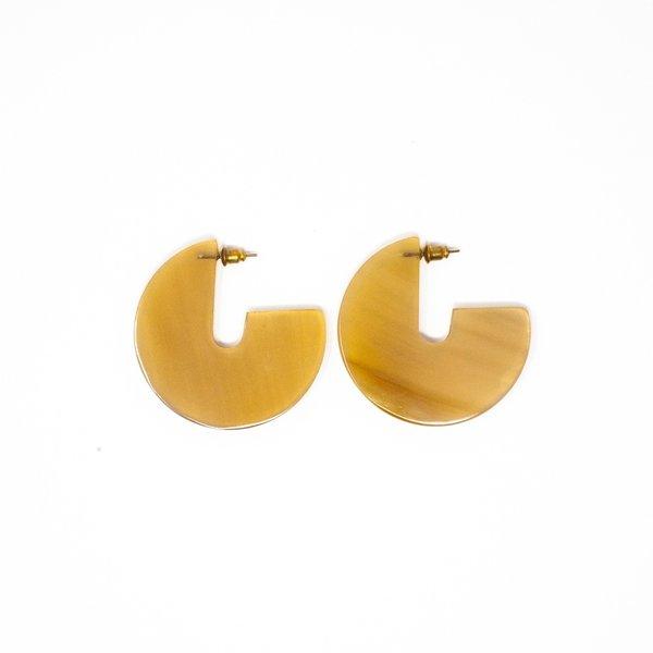 Earrings   Horn Disc   Large