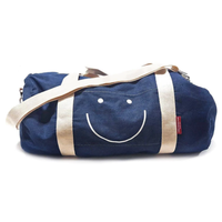 THREE potato FOUR Duffle Bag | Denim | Happy Face