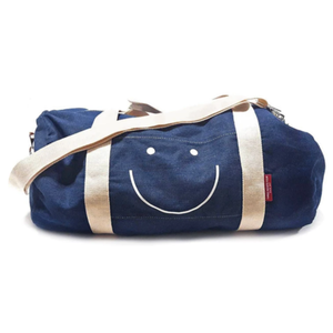 THREE potato FOUR Duffle Bag | Denim | Happy Face