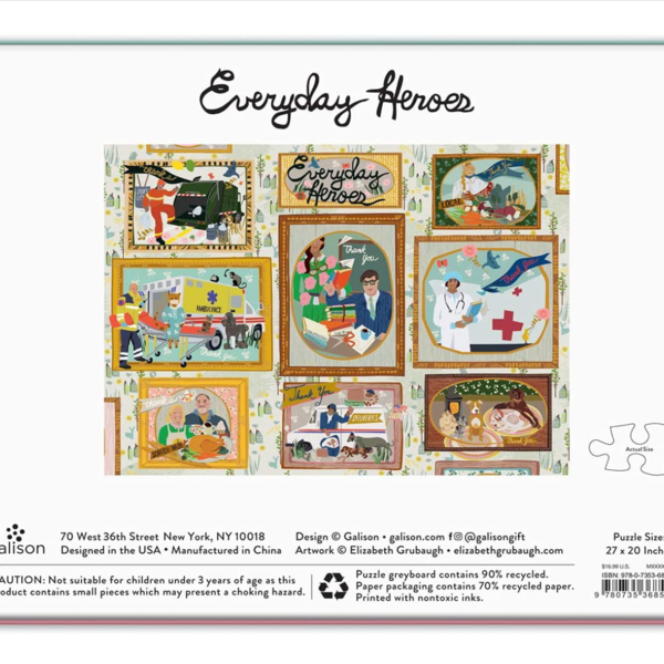 Chronicle Books Puzzle | 1000pc | Everyday Heroes