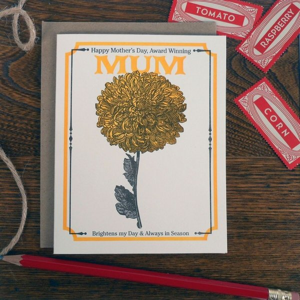 Card | Vintage Mum Seed