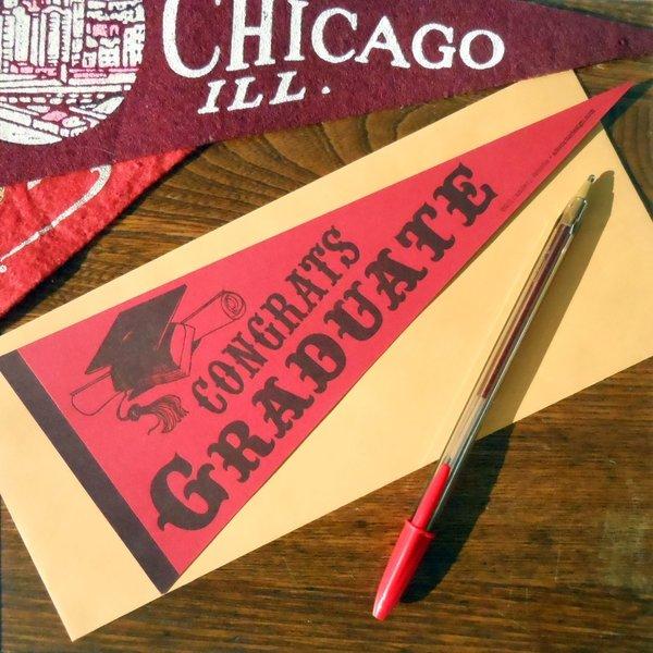 Card | Vintage Grad Pennant