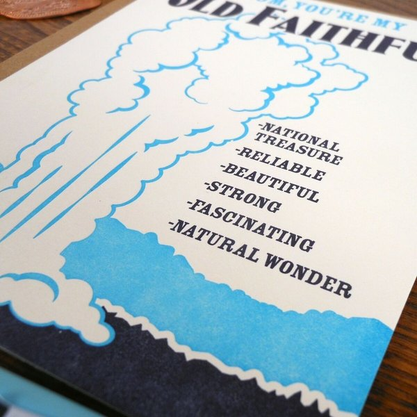 a. favorite design Card | Old Faithful Mom