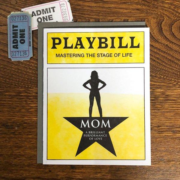Card | Mom Playbill