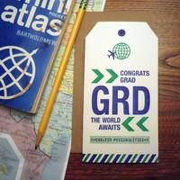 a. favorite design Card | Grad Luggage Tag