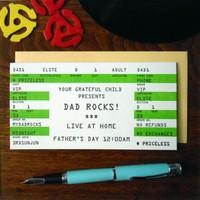 Card | Dad Rock Ticket