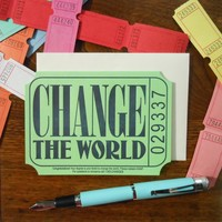 Card | Change the World Ticket