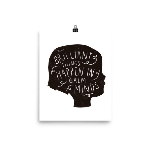 GINGIBER Art Print   8x10   Calm Minds