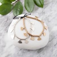 Baizaar Brass Bracelet | Fan Beads