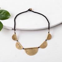 Baizaar Necklace | Brass Half Moons