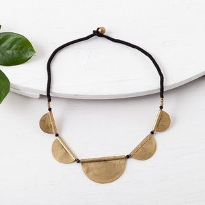 Baizaar Necklace | Brass Half Moons