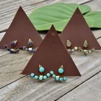 Baizaar Earrings | Brass Jacket Set