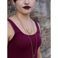 Brass Necklace | Delicate Disks