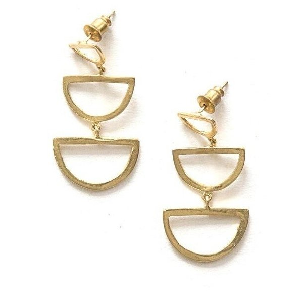 Brass Stud Earrings | Reverberation