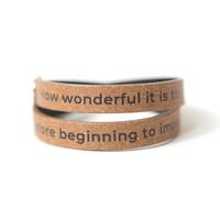 Leather Wrap Bracelets   Quotations