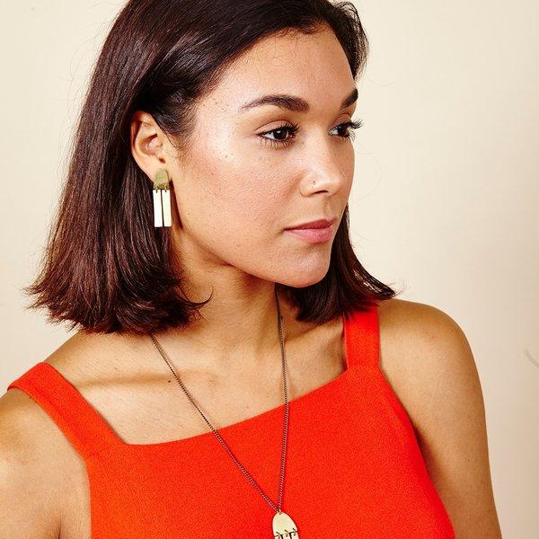 Earrings | Fringe Duo Studs | Just Trade