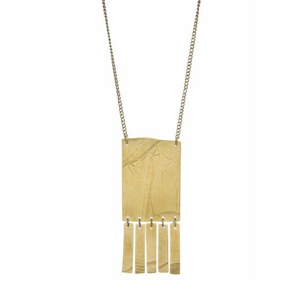 Necklace | Fringe Pendant | Just Trade