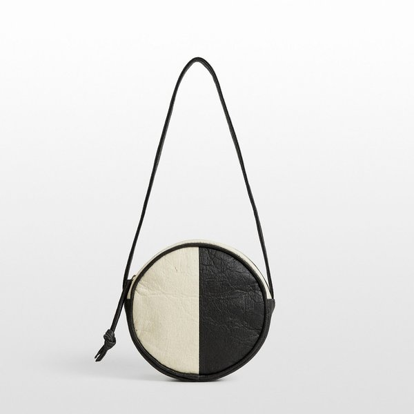Hozen Vegan Canteen Bag | Color Block | Charcoal + Natural