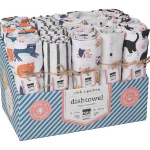 Now Designs Tea Towel | Cats | Assorted