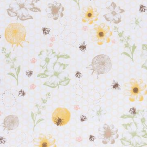 Now Designs Tea Towel | Bees & Butterflies | Assorted