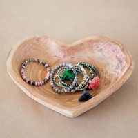 Creative Co-Op Bowl | Paulownia Wood Heart
