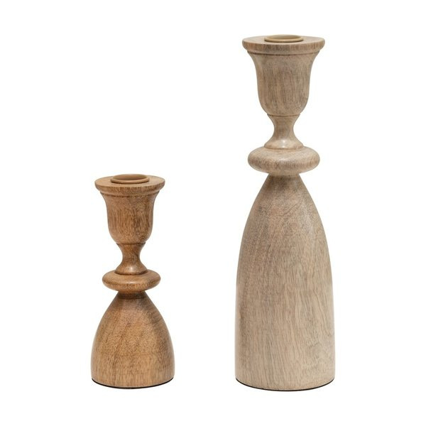 Taper Candle Holders | Mango Wood