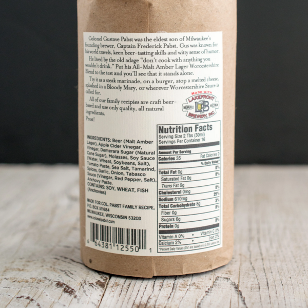 Colonel Pabst Col Pabst Worcestershire Sauce | Malt Amber-Lager