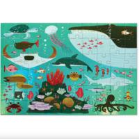 Crocodile Creek Puzzle   60pc Foil   Shimmering Sea