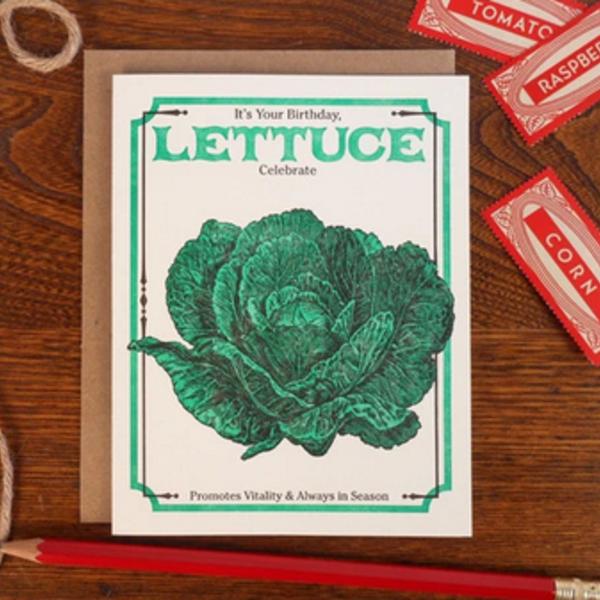 Card | Vintage Lettuce Seed Bday