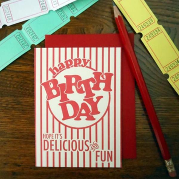 Card | Popcorn Bday