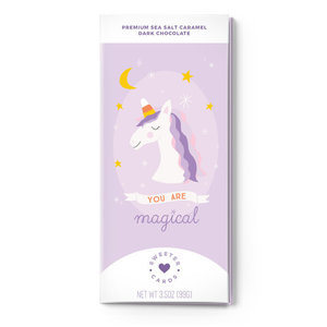 Sweeter Cards Chocolate Bar Card | Magical Unicorn
