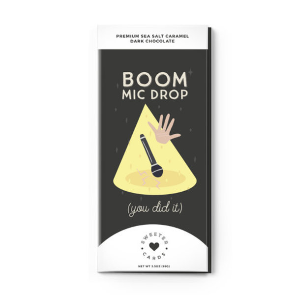 Sweeter Cards Chocolate Bar Card | Boom Mic Drop