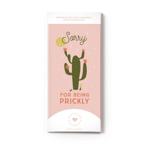 Sweeter Cards Chocolate Bar Card | Sorry for Being Prickly