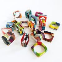 Belart Ring | Poly-Resin | Square Mosaic