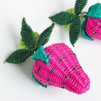 Belart Earrings | Large Fruit Iraca