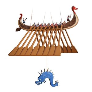 Tulia's Artisan Gallery Mobile | Flying Viking Ship