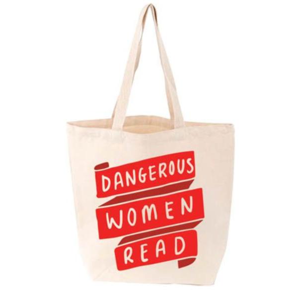 Gibbs Smith Canvas Tote | Dangerous Women Read