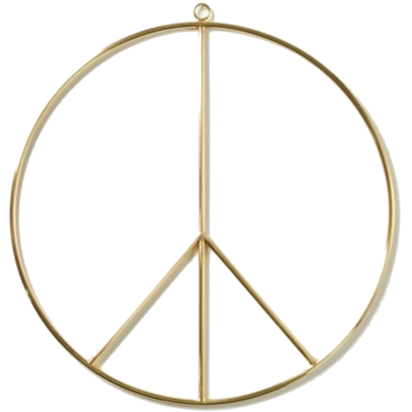 "Accent Decor Brass Wreath Decoration | Peace | 14"""