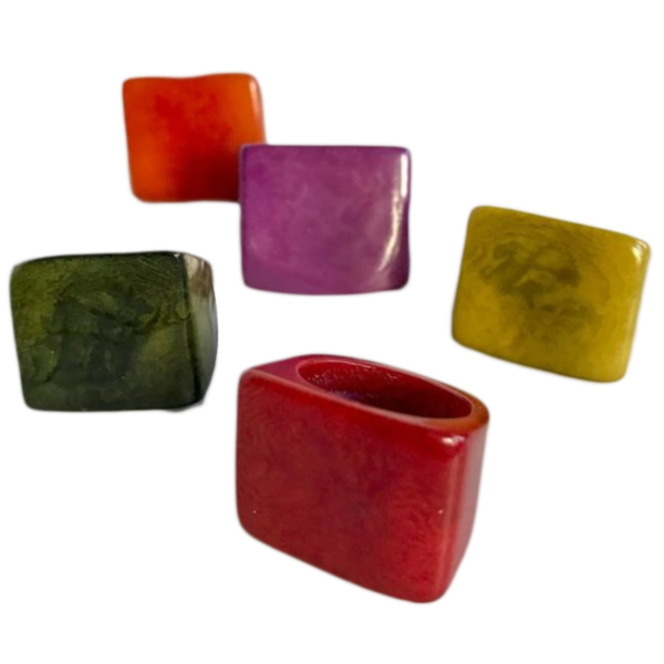 Ring | Tagua | Square Carved