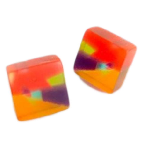 Earrings | Poly-Resin | Square Mosaic